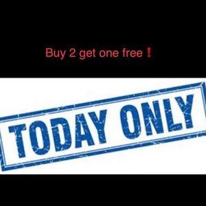 Buy 2 get one free 😀 Today only